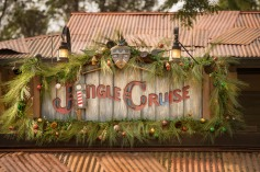 For the holiday season, Jungle Cruise transforms into 'Jingle Cruise' for Magic Kingdom guests with festive decor in the attraction queue and boathouse, holiday names for the Jungle Cruise boats and a slew of seasonal jokes from the Skippers to their passengers. This seasonal takeover of the attraction first debuted at Walt Disney World Resort in 2013. (Kent Phillips, photographer)