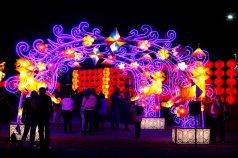 31208025. Puebla.- La víspera, aspectos de la Villa Iluminada en el municipio de Atlixco, Puebla donde cientos de turistas y poblanos recorren todas las noches sus calles iluminadas con figuras realizados por artesanos de región que este año tiene como invitado especial el pabellón de China. NOTIMEX/FOTO/CARLOS PACHECO/FRE/LIF/